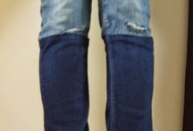 customiser jean bicolore