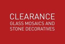 CLEARANCE - Glass Mosaics Stone/Metal Decoratives / Anatolia Tile Glass Mosaics & Stone/Metal Decoratives - Clearance List