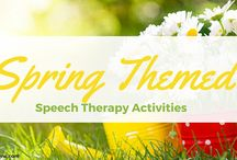 Speech Therapy Activities - April / These activities will put a spring in your step.