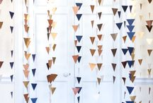 Party ideas: balloons, backdrops and garlands / Lots of styling ideas which suit any occasion and celebration, using honeycomb tissue balls, balloons, paper garlands and backdrops made from streamers, tissue and old books