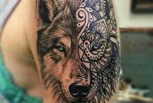 Tatuaż-wilk