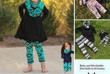 Baby and Me / Baby and Me matching scarf pant sets