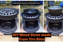 wood stove from tire rims