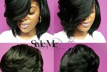 black beatiful hair