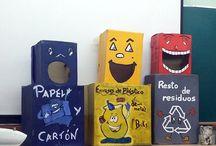 contenedores reciclaje niños