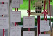 Tableau de Mariage / Tableau de mariage and seating cards for weddings.