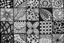 Zentangles:  reference, examples and departures / Examples of designs, techniques of the compulsive doodle craze