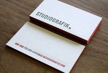Business Card Inspiration / Beautiful business cards--if only colored edges, rounded corners, die-cuts, embossing, UV gloss, and foil embellishments didn't cost so much!