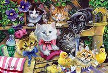 çanta için kedi