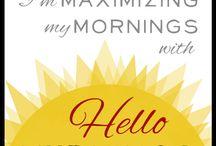 hello mornings / by Emily Fredrickson