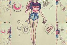 Croquis de Moda Feminina / Croquis feitos por mim