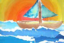 malování-koláže