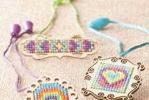 Wodden cross stitch