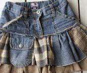 Одежда из старых джинс