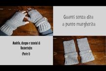 mezzi guanti a punto margherita (fingerless gloves)