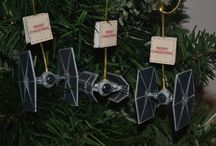 Star Wars Christmas Ornaments Decorations Tie Figher X-Wing X Wing Star Wars Craft Christmas Tree / Star Wars Tie Fighter and X-wing Christmas Tree Ornaments Decorations Craft