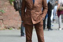 ベージュ ブラウンスーツ