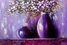 Quadros pinturas florais veja mais em www.katiaalmeidaart.com.br Aceito encomendas.