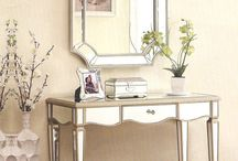 Mirrored Vanity Tables / Radiant vanity tables with mirrored accents that add light and beauty to a bedroom or hallway.