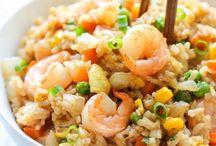 shrimp fried rice dish
