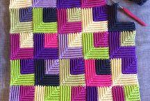 Quilt look blankets