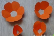 3D paper kwiaty