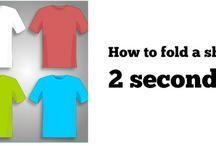 hwo to fold a shirt