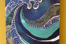 Aallot,  Hokusai