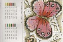 Punto de cruz mariposas