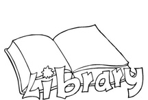 library themed coloring pages and printables