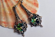 Silver Earrings/Silver Jewelry/Wire wrapping