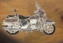 Harley davidson / Harley davidson samen met een cursist gemaakt