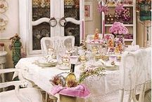 shabby style dining