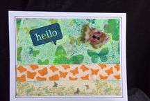 Cards / Cards made by Cindy Connell with various clay pieces