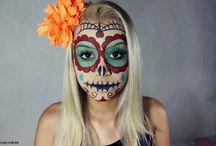 Halloween / Halloween e efeitos especiais. #halloween #makeup #skull #mexicanskull