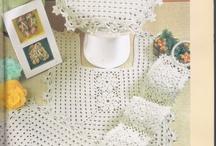 juego de bano en crochet
