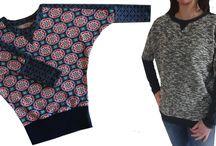 Sweatshirts und Shirts für Erwachsene und Teenager / Individuelle Oberteile, Shirts und Sweatshirts einfach selber nähen.... mit unseren Anleitungen und Videonähkursen geht das selbst für Anfänger ganz einfach....) Ihr findet alles auf www.zierstoff.de