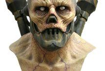 Monster Masks / Monsters, creatures, and aliens created by sculptor and designer Jordu Schell. https://www.schellstudio.com/about.html
