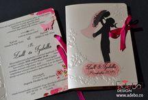 Invitatii Nunta / Invitatii de nunta personalizate, modele unice si variate, adaptate la tematica nuntii dvs. Multitudine de culori si o gama variata de fonturi speciale va stau la dispozitie. Orice idee poate fi o provocare pentru noi, nu ezitati sa ne puneti la incercare. Realizam invitatii de nunta, invitatii deosebite, invitatii nunta haioase, invitatii nunta elegante, invitatii nunta handmade.