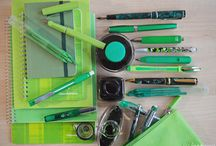 Green / Green pens, fountain pens, paper, and ink. Available from ipenstore.com