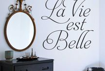 Etsy Shop Inspirational & Famous / Vinyl wall lettering of inspirational quotes to decorate with.