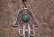 hamsa, evil eye protector, fatima's hand silver
