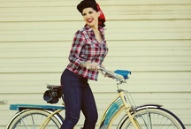 Pin up girl bike