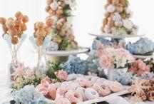 salem blue table setting
