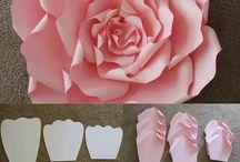 Flores de papel grandes