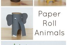 paper roll animals