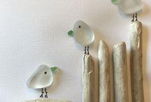 kunst med glasskår