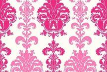 Roze behang
