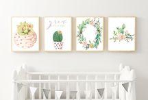 Baby nursery - cactus theme