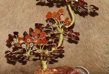 gamestone trees, mineral trees, wire tree,ásvány fák, drót fák